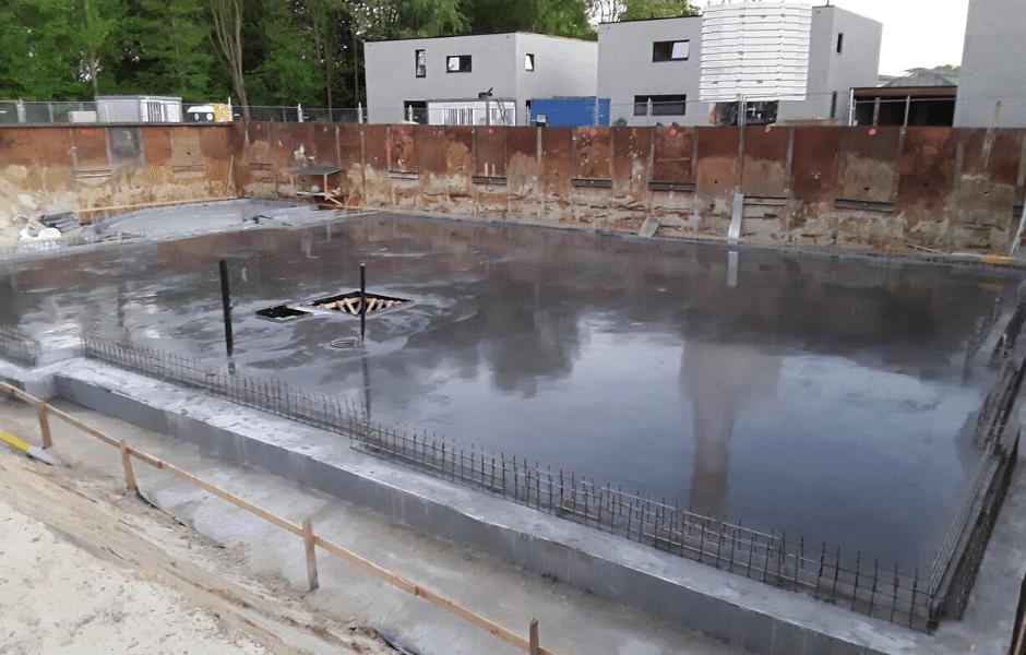 betonnen vloerplaat woning
