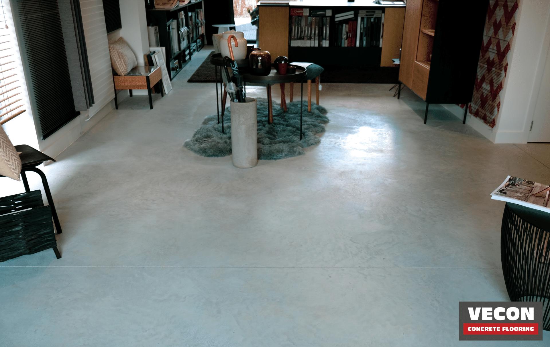 gepolierde betonvloer winkel Indigo