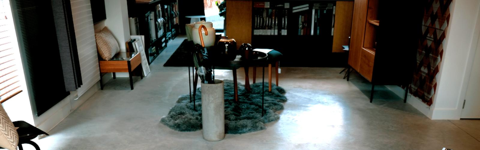 gepolierde betonvloer nieuwbouw en kantoren