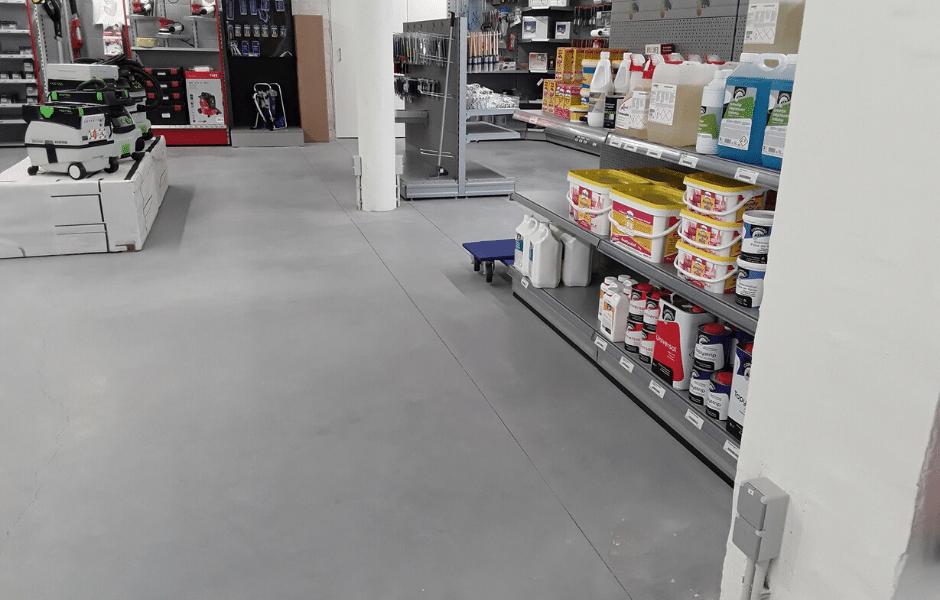 gepolierde betonvloer winkel