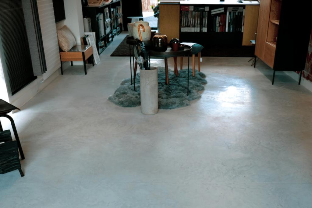 gepolierde betonvloer woning kantoor