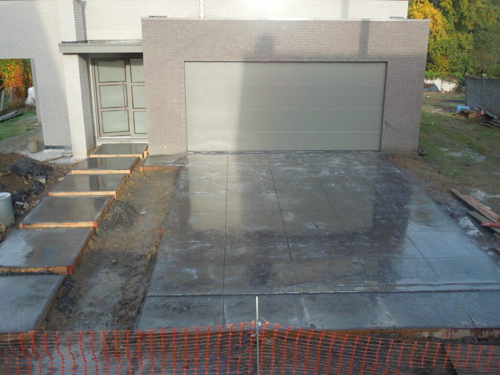 opritten in gepolierde beton