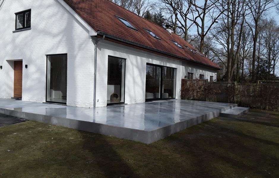 terras in gepolierde beton landelijk