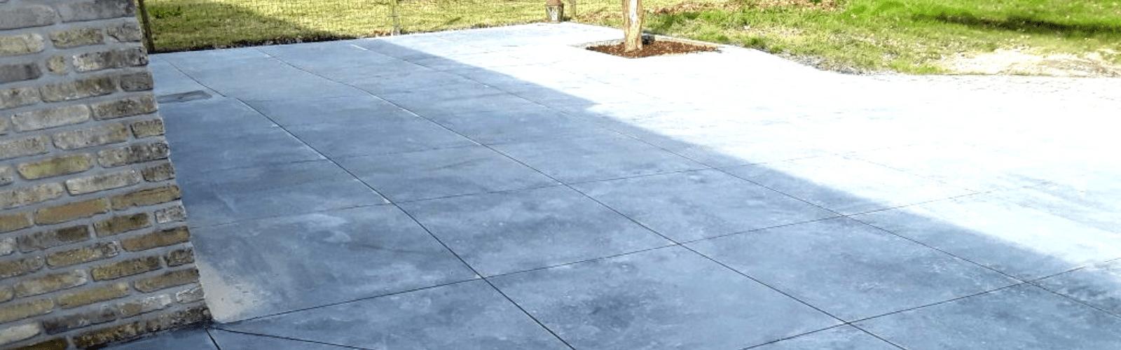 terras in gepolierde beton